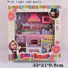 Мебель Кухня плита, мойка, микроволновка, шкаф тостер музыкальная для куклы