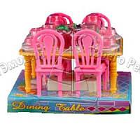 Столова 967 стіл 4 стула для ляльки