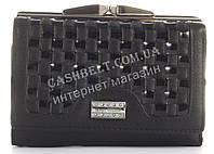 Лаковый плетеный небольшой кожаный качественный стильный женский кошелек MARIO VERONNI art. MV-153-662A черный