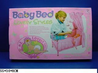 Ліжечко для ляльки 8889 метал. кроватка