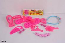 Набор для девочек 5037 бижутерия фен тапочки