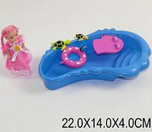 Кукла маленькая с басейном, черепашки