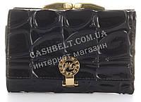 Лаковый элитный небольшой кожаный качественный стильный женский кошелек MARIO VERONNI art. MV-5052A черный
