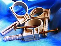 Обойма-хомут32-34 с дюбелем и шурупом для крепления круглого провода(упаковка 25шт)