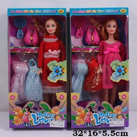 Кукла типа Барби 0308А беременная с одеждой