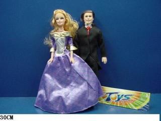 Лялька типу Барбі і Кен з волоссям 11350 пакет