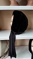 Меховая стильная косынка цвет черный