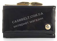 Лаковый элитный небольшой кожаный качественный стильный женский кошелек MARIO VERONNI art. MV-8172A черный