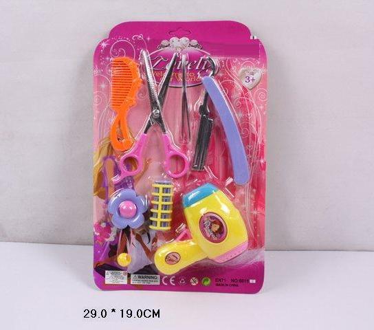 Парикмахерский набор фен, ножницы, бигуди, заколки, пилочка, расческа