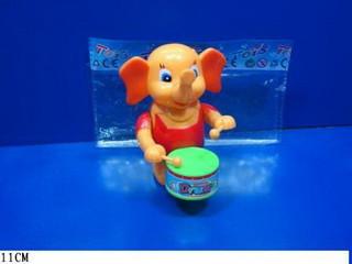 Заводная игрушка 111Е Слон барабанщ