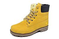Ботинки Зимние Кожаные Timberland Т1 Judas-colored (реплика) риж подр размер: 36