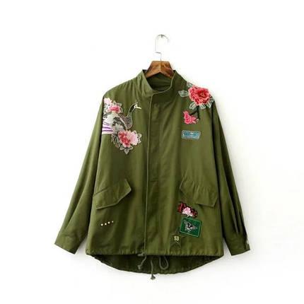 Куртка женская цветы, фото 2