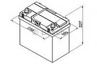 Аккумулятор bosch (j)тк s4 silver 45ah, en 330 правый + 238x129x227 (дхшхв) BOSCH 0092S40200; EXIDE EB456