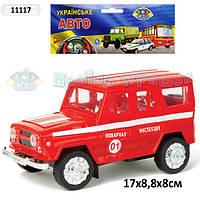 11117 Машина инерционная УАЗ Пожарная