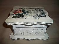"""Деревянная белая шкатулка ручной работы """"Рафаэлла"""", фото 1"""