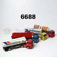 Грузовик 6688 инерция 4в1 бензовоз