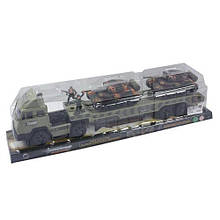 Военная машина грузовик с танками