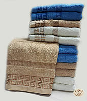 Полотенце для лица и рук Версаче-2 бежевое
