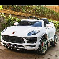 Детский электромобиль MACAN 1518: 2.4G. EVA-колеса, кожа, 50W - БЕЛЫЙ-купить оптом , фото 1