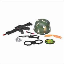Військовий набір 8028 каска, автомат, наручники, ніж,