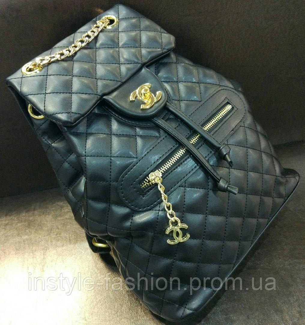 80734210236d Модный и стильный рюкзак Chanel Шанель черный эко-кожа - Сумки брендовые,  кошельки,