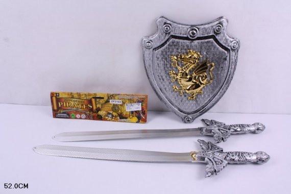 Пиратский Рыцарский набор 3164 Щит, 2 меча