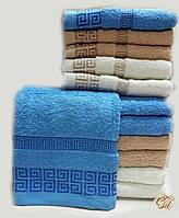 Полотенце банное Версаче-2 голубое