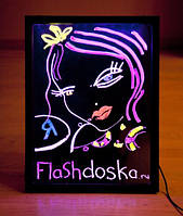 LED доска, Sparkle Board, Flash панель, Neon board 40 x 60 см доска