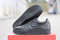 Мужские зимние кроссовки Nike Air Force черные