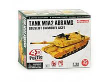 4D Пазл конструктор Танк ABRAMS пластик