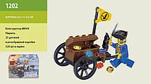1202 конструктор лего Brick Пираты тележка