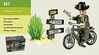 827 конструктор лего Brick Мотоцикл