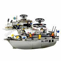 0122 конструктор лего Sluban Военный Корабль