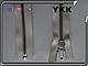Металл YKK 50cm,75cm 801 молочная 1 бег №5 никель, фото 2