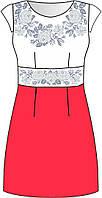 Сукня жіноча заготовка для вишивки бісером, нитками