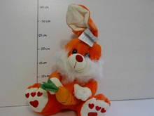 Мягкая игрушка Зайчик морковка, муз. 36см