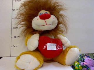 Мягкая игрушка Лев с серцем