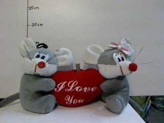 Мягкая игрушка Мышки с сердцем