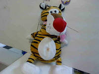 Мягкая игрушка Тигр 40см музыкальный