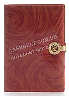 Стильная лаковая кожаная обложка для документов высокого качества MARIO VERONNI art. MV-6124A красный