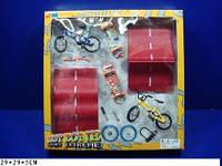 Фингерборд скейта 2 велосипеда 2 трамплины