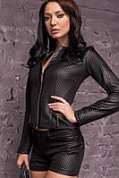 Женская черная  куртка  эко кожа