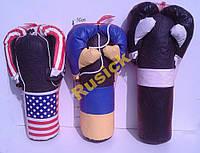 Боксерський набір комплект Чорно білий груша перчатки Boxing