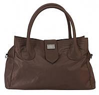 Дорожная сумка, саквояж Epol 2360 средняя М коричневая, 51*27*20 см
