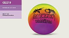 Мяч резиновый Пляжный волейбол 02219, 23см, 130г