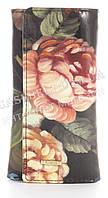 Стильная прочная лаковая надежная кожаная ключница HELEN VERDE art. 2232B-F46 цветы