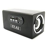 Недорогие портативные колонки HY-A2: радиочастоты 64-108 МГц, 6 Вт, SD, 3,5 мм mini jack, USB кабель