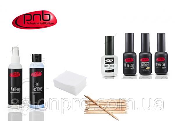 Стартовый набор для покрытия гель-лаком  PNB 8 мл ПРОФ (без лампы) - SalonPro - всё для Вашей красоты! в Николаеве