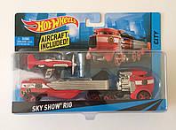 Hot Wheels Машина дальнобойщика красная кабина SKY SHOW RIG