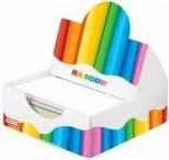 """Блок бумаги для заметок Optima """"Rainbow"""" в пластиковом пенале"""